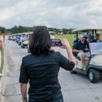 Blue Cares Golf Tournament golf carts
