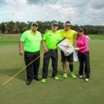 BC Golf Tournament players on the green