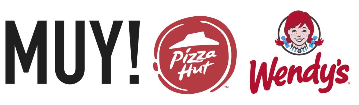 MUY Pizza Hut Wendys Logo