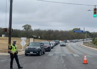 SAPD Officer directs traffic