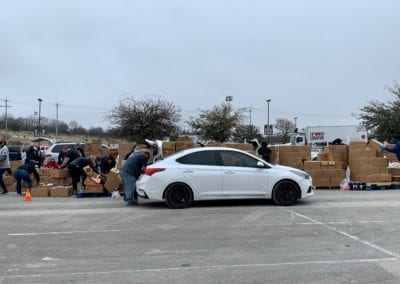 Blue Cares provided tacos to the volunteers and SAPD Traffic Unit participating in the San Antonio Food Bank's Distribution Event at Toyota Field!
