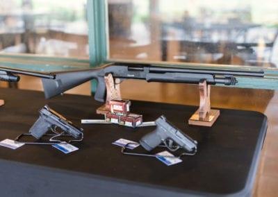 Prize Shotgun and pistols